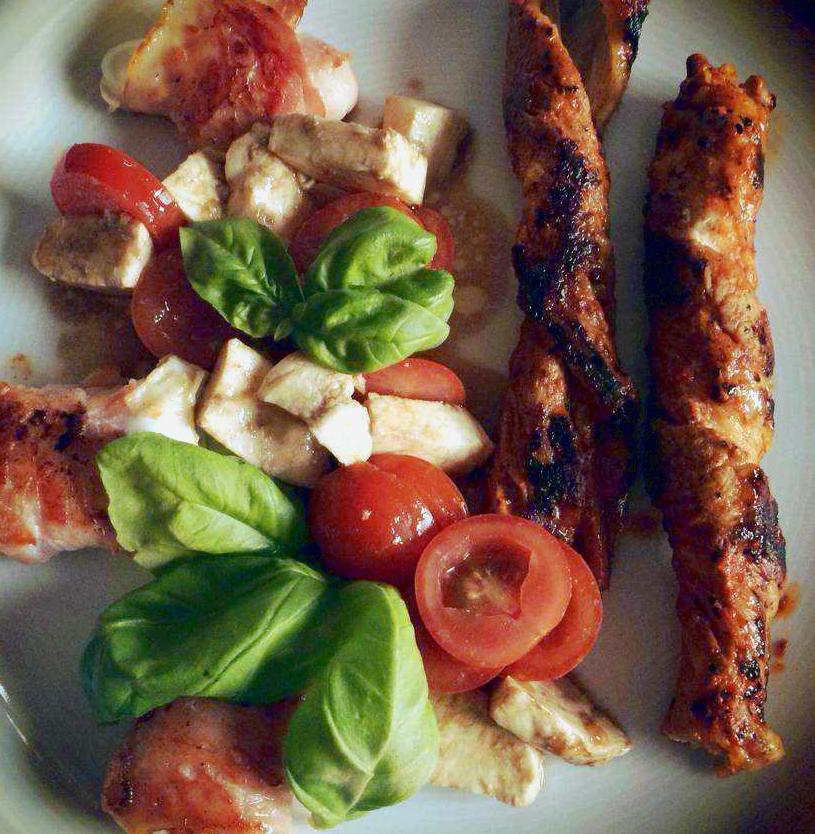 Ziegenkäse mit Bacon